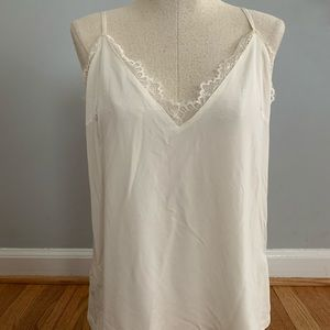 H&M white lace tank top size 4 ( small-medium)